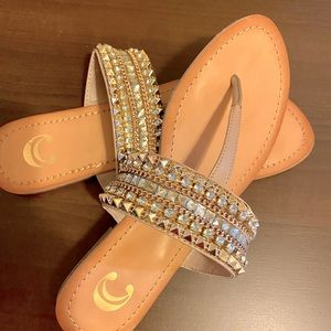 Charming Charlie's Rhinestone Women's Sandal- 8